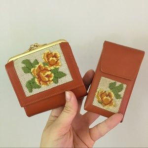 Updated: 2PC SET Vintage Wallet + Lipstick Box